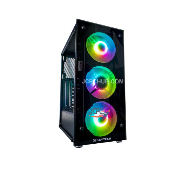 keytech t850 mid tower case for gaming